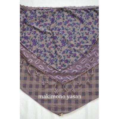 画像5: 花柄の三角スカーフ