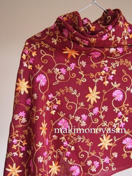 画像5: アネモネ アーリ刺繍ストール アネモネ アーリ刺繍ストール - ストールの専門店 まき